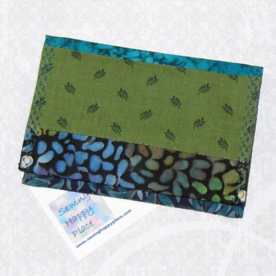 Shady Glade. Fabric Gift Card Wallet. Business Card Holder. Mini Wallet. String Pieced.  - product images  of