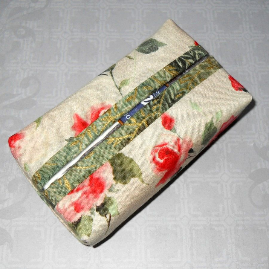 Olde Rose Boxy Pocket Purse Tissue Case. Ecofriendly. Travel Tissue Cozy. Fits Purse Pack. - product images  of