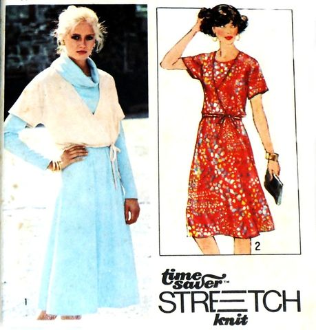 Boho,Wrap,Front,Jacket,w,Cowl,Collar,Dress,1970s,Pattern.,Funnel,Neck,sewinghappyplace, Sewing Pattern, Vintage