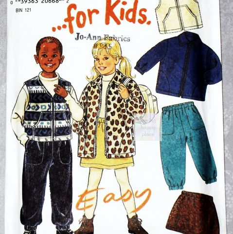 Unisex,Toddler,Childs,Separates,1990s,Pattern.,Fleece,Play,Clothes.,sewinghappyplace, Sewing Pattern, Vintage