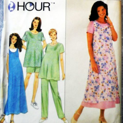 Trapeze,Maternity,Dress,Top,Jumper,1990s,Pattern.,Scooped,Neckline.,Flare,Fit.,sewinghappyplace, Sewing Pattern, Vintage