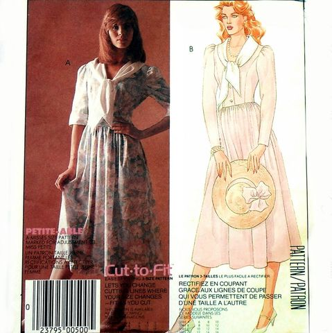 Princess,Bodice,Dress,1980s,Pattern.,Full,Skirt.,Designer,Laura,Ashley.,Loose,Tie,Collar.,Vintage, 1980s, 80s, Sewing Pattern, Princess Bodice, Dress, Full Skirt, Designer Laura Ashley, Loose Tie Collar, McCalls 2374, sewinghappyplace