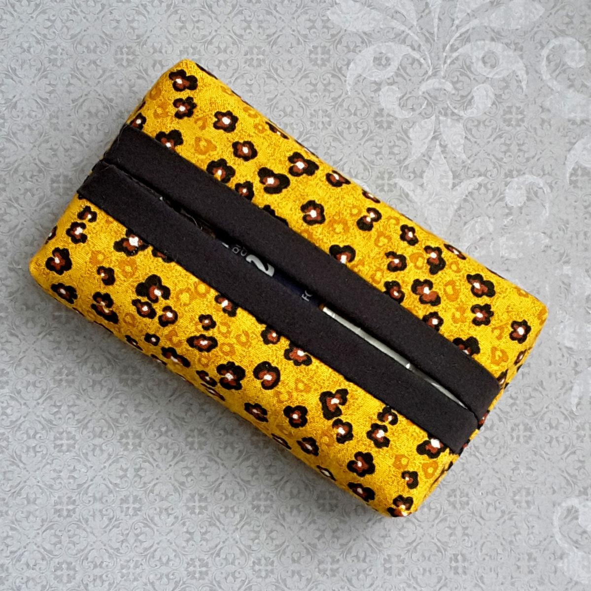 Spotty Leopard Boxy Pocket Purse Tissue Case. Ecofriendly. Travel Tissue Cozy. Fits Purse Pack.  - product images  of