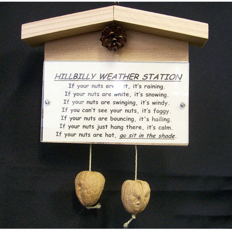 Customized,weather,station,novelty,gag,gift,Woodworking, Sign, weather_station, hanging, outdoor, novelty, _gift,  funny, humorous, hillbilly, balls, joke, cedar, plexiglass, 