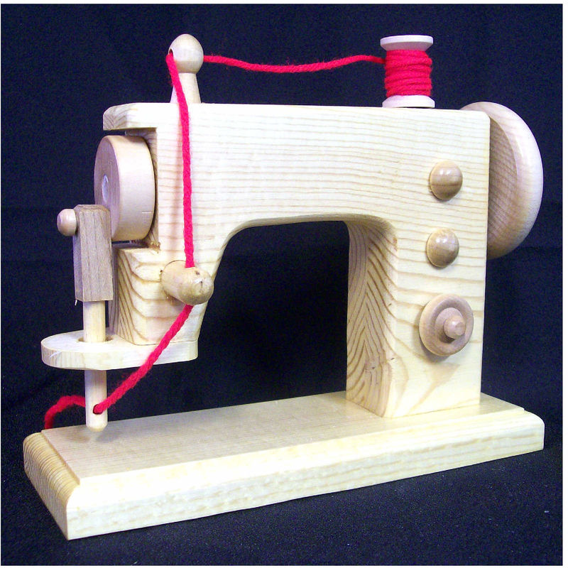 Machine Toys For Girls : Toy wood sewing machine realistic handmade wooden replica