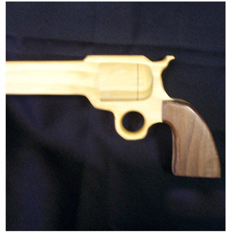 45 Revolver Colt Gun Cane Colt 45 Wooden