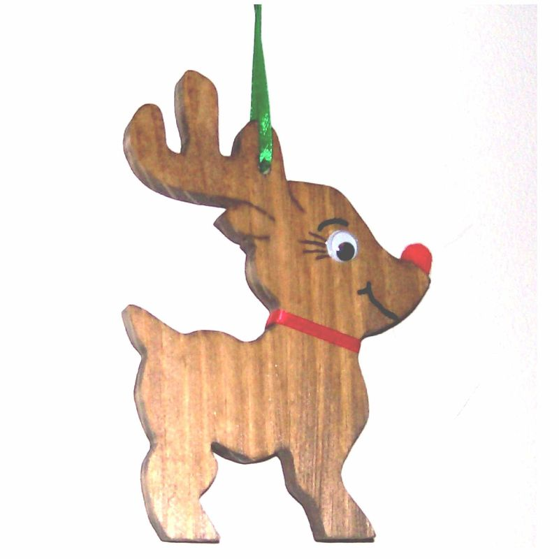 reindeer christmas ornament wood product images of - Wooden Deer Christmas Decorations