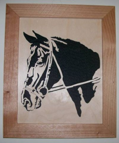 Horse,in,wood,scroll,saw,portrait,of,a,horse,head,woodworking, fretwork, wall_hanging, art, portrait, felted, home_decor, horse, 