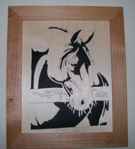 Old,horse,in,wood,scroll,saw,picture,woodworking, home_decor, wall_hanging, art, picture, portrait, horse, equine, wood_cut, animal,