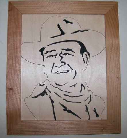 John,Wayne,in,wood,scroll,saw,portrait,of,004,woodworking, scroll_saw, portrait, fretwork, john_wayne, art