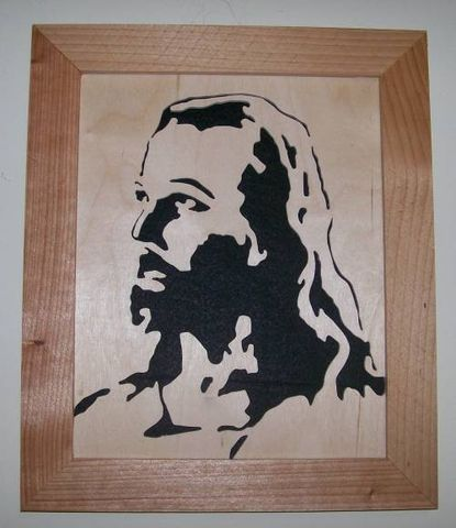 Jesus,in,wood,scroll,saw,portrait,Woodworking,Fretwork,Wall_Hanging,art,felted,home_decor,jesus,christ,religeous,crusifix,lord,birch,cedar,felt