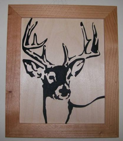 Deer,Whitetail,buck,in,wood,scroll,saw,picture,woodworking,fretwork,wall_hanging,portrait,wood_cut,wildlife,animal,deer,whitetail,whitetail_deer,trophy,birch,cedar,felt