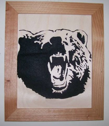 Grizzly,bear,in,wood,scroll,saw,picture,woodworking,wall_hanging,wood_cut,wildlife,animal,grizzly,nature,trophy,hunting,birch,cedar,felt