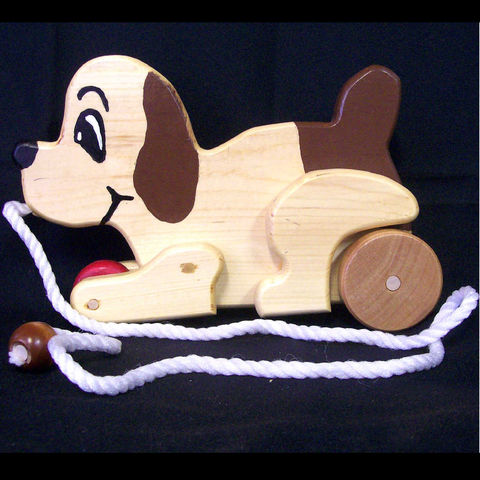 Wood,puppy,dog,animated,wooden,pull,toy,Toys,Children,Animal,pull_toy,animal,puppet,pine,pretend,waldorf,animals,wood,maple_or_birch,macrame_cord