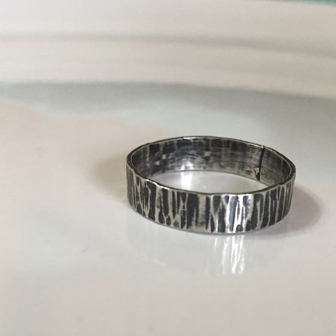 Birches,Ring,-,Eco,Friendly,Sterling,Silver,ring, sterling silver, sterling silver ring, tree bark ring