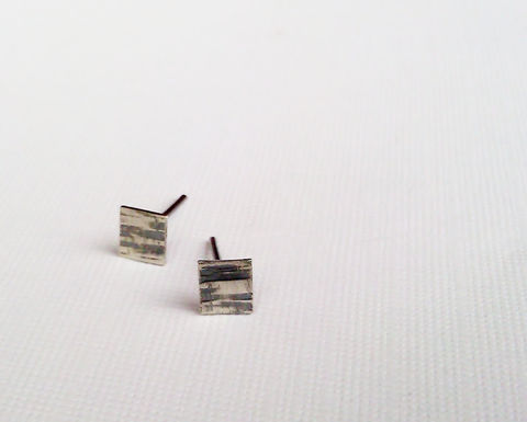 Square,Sterling,Silver,Stud,Earrings,,Birches,Post,Oxidized,Textured,Jewelry,Earrings,silver_stud_earrings,recycled_silver,sterling_silver,argentium_sterling,tree_bark_earrings,oxidized_earrings,small_earrings,square_earrings,post_earrings,square_stud_earrings,birch_bark_earrings,minimalist_earrings,Autumn_2012,recycl