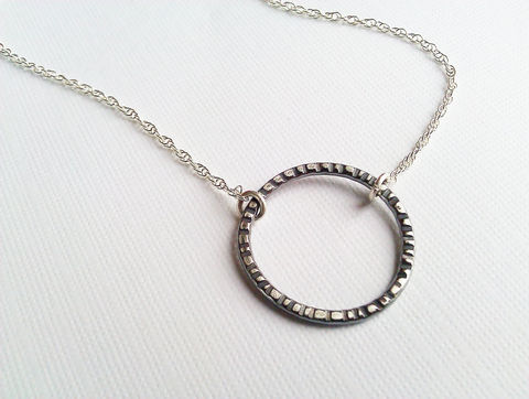 Simple,Two,Tone,Sterling,Silver,Necklace,,Oxidized,Handforged,Circle,and,Bright,Chain,,Minimalist,Necklace,Jewelry,Metalwork,argentium,sterling_silver,circle_necklace,oxidized_silver,silver_necklace,minimalist_necklace,modern_necklace,textured_silver,two_tone_necklace,oxidized_and_bright,simple_necklace,Handforged_circle,handmade_necklace,recycled arg