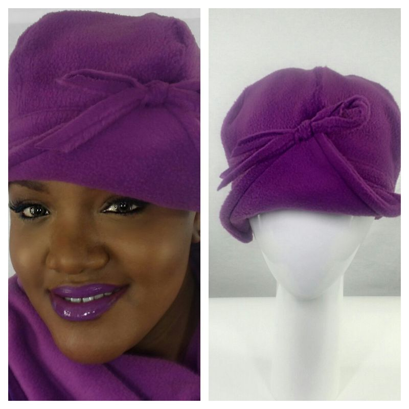 Plum Fleece Hat - Crylittle Designs 4fa8e52abfb6