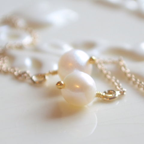 Round,Pearl,Threader,Earrings,in,Gold,earrings, threaders, pearl, freshwater, white, gold, round, delicate, lightweight, handmade, wire wrapped, jewelry, jewellery, classic, neutral