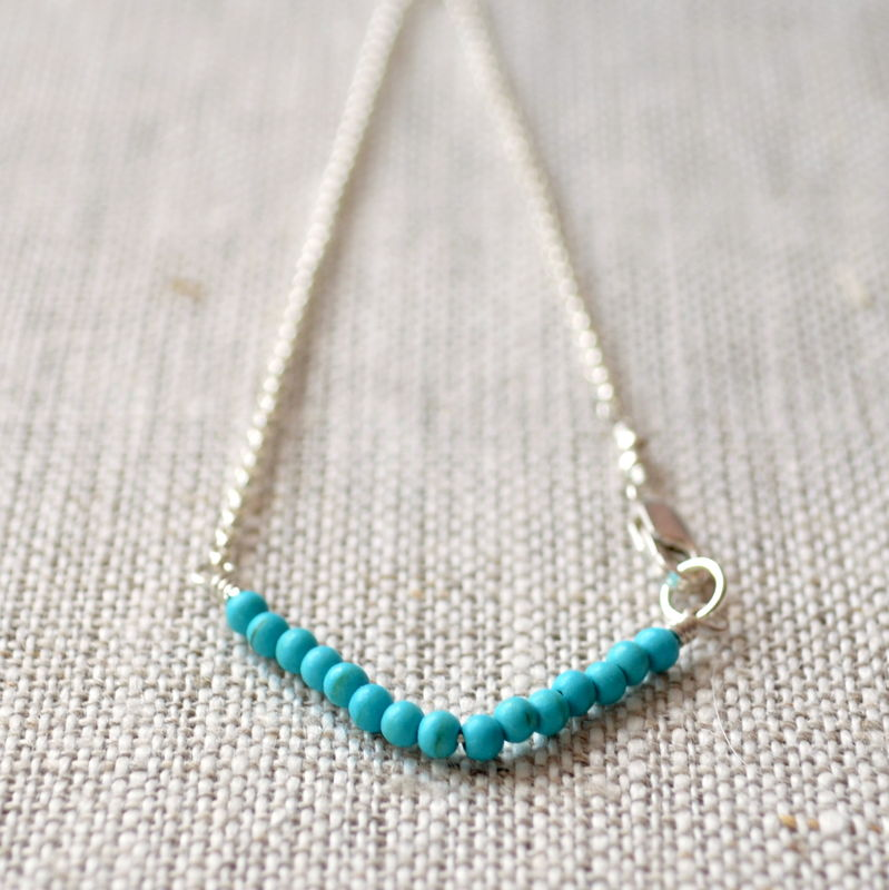 Real Turquoise Chevron Bracelet in Sterling Silver - product images  of