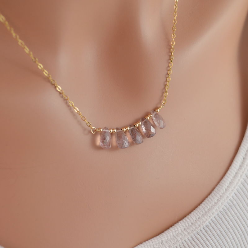Lepidocrocite Gemstone Necklace in Gold - product images  of