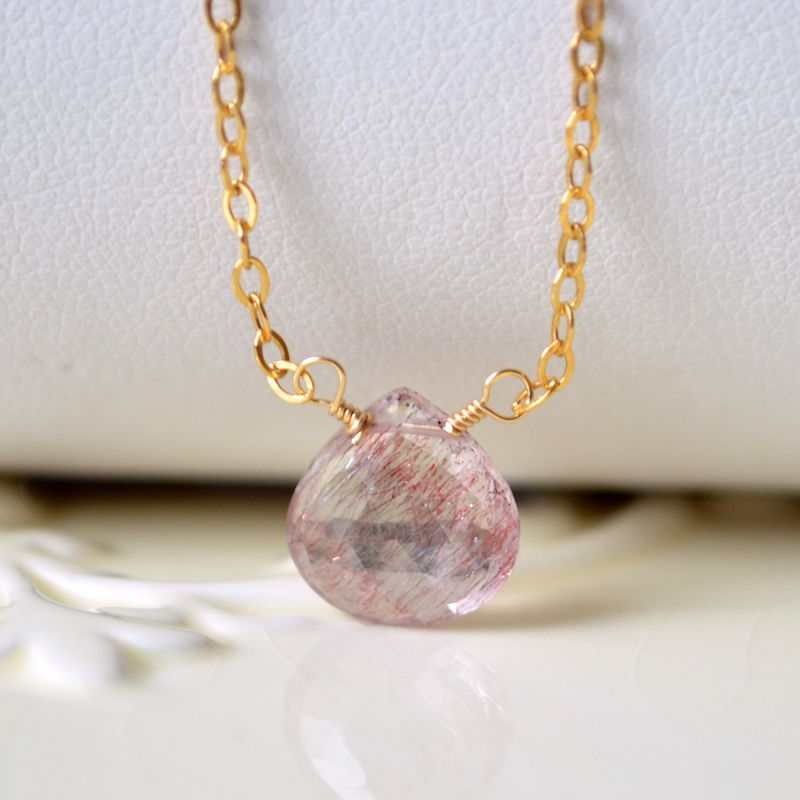 Moss Amethyst Choker Necklace in Gold - product images  of