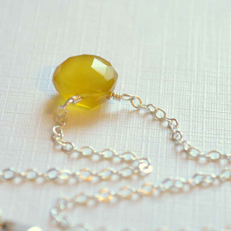 Yellow Gemstone Anklet in Sterling Silver - product images  of
