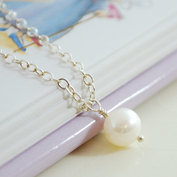 White Pearl Necklace for Girls - product images  of