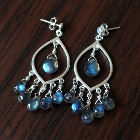 Labradorite,Chandelier,Earrings,in,Sterling,Silver,labradorite earrings, labradorite jewelry, gemstone earrings, gemstone jewelry, chandelier earrings, silver earrings