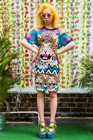 On,the,Prowl,Leopard,Mini,Skirt,Mini skirt, skirt, leopard, palm trees, print, Tropicanaval, dazzle and jolt, leopard print, co-ord, summer, festival. fashion, London fashion, independent brands, womenswear