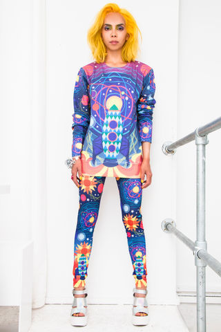 Out,of,this,World,Sweater,sweater, jumper, space, cosmic, rocket, out of this world, planets, print, pattern, dazzle and jolt, London fashion