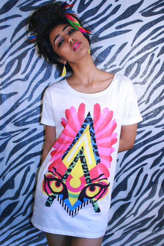 Feather,Tribal,T-Shirt,sweatshirt, tribal, feather, summer, style, oversized, t-shirt, Illustrated, Dazzle, Jungle, Dazzle and Jolt, Geometric, Fashion
