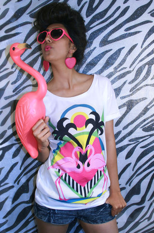 Flamingo,Love,T-Shirt,sweatshirt, toucan, t-shirt, Illustrated, Dazzle, Jungle, Dazzle and Jolt, Geometric, Fashion