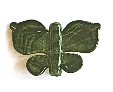 Lampworked Aventurine Green & Black Butterfly Focal Bead - product images  of