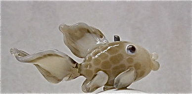 Lampworked Hollow Glass Fish Bead - product images  of