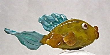 Handmade,Hollow,Glass,Fish,Focal,Bead,Lampwork, Fish Bead, Glass Focal Bead, Hollow