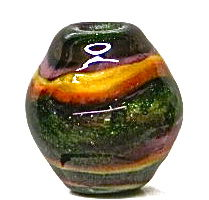 Lampworked Large Holed Hollow Focal Bead - product images  of