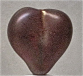 Lampwork Hollow Glass Heart Bead - product images  of