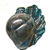 Lampworked,Hollow,Glass,Shell,Bead,,Teal,Shell Bead, Lampworked Glass, Hollow, Focal Bead