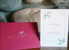 Christmas 3 Card Set - Hand Embroidered - product images 2 of 5