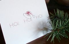 Christmas 3 Card Set - Hand Embroidered - product images 3 of 5