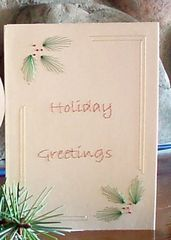 Christmas 3 Card Set - Hand Embroidered - product images 4 of 5