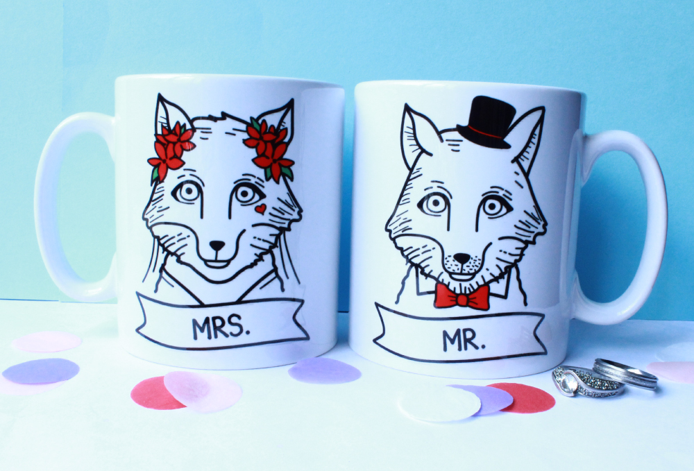 Mr and Mrs Wedding Gift Mugs And Ideas