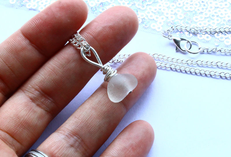 Opaque Sea Glass Nautical Pendant - product image