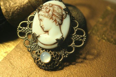 Fabulous,Grecian,Goddess,Pendant,designer,element,features,a,Vintage,pressed,milk,glass,cameo,1930,germany,Jewelry,Metal,milk_glass_cameo,Rare_vintage,Grecian_Goddess,Vintage_Brass,Goddess_Pendant,1930's_Germany,Fleur_De_lis_setting,antique_Gold,Vintage_Glass_Cameo,White_Opal_cabochon,Czech_Glass_Stone,sistermoonscastle,Vintage Gold Brass,Vinta