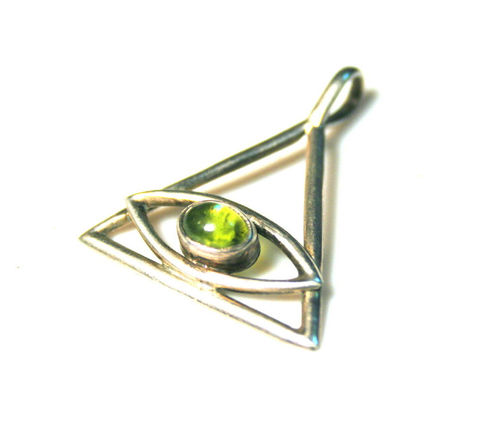 Sterling,Silver,Pyramid,Pendant,the,all,seeing,Eye,of,God,Pyramid_Pendant,Pyrimid_with_eye,The_eye_of_god,Mystical_pendant,Symbolic_Amulet,Sterling_Silver,Silver_Charms,protection,strength,Sacred_Pyramid,symbolic_Jewelry,silvermoongalleria,Peridot,Sterling Silver and Peridot