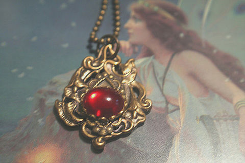 Ruby,Red,and,Cala,Lily,Elegant,Victorian,Drop,Designer,Vintage,Pendant,-,antiqued,Gold,.,Jewelry,Metalwork,Ruby_Red,Brass_flower_Pendant,Handmade,Victoriam_Edwardian,Vintage_style,Medieval_jewelry,Antique_Gold_Jewelry,Vintage_Pendant,SCA,flower_jewelry,Antique brass,Vintage Ruby Red Czech Cabachon