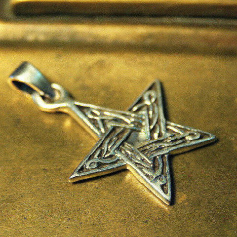 Celtic,Knot,Pendant,Five,Point,Star,-,Symbolic,Amulet,cast,in,925,Sterling,Silver,Star Jewelry, Celtic pendant, Pentacle, celestial Jewelry, celtic jewelry, star Pendant, Celtic knot-work, Symbolic Amulet, Pagan jewelry, 925 Sterling Silver, silver jewelry, wiccan, wiccan silver jewelry,