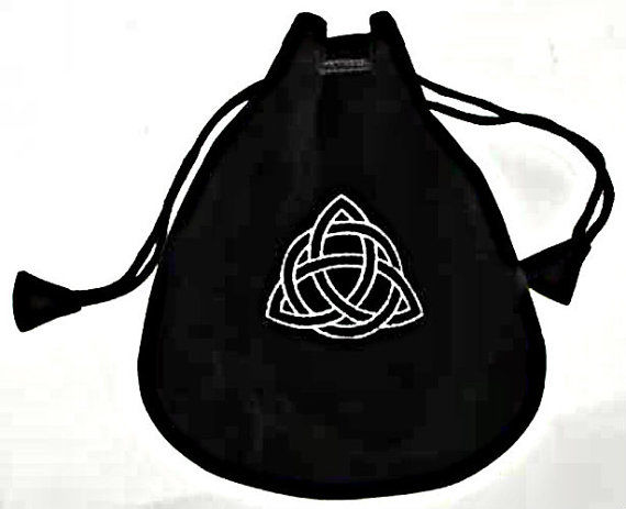 The Celtic Triquetra Velveteen Drawstring Gift Bag - product images  of