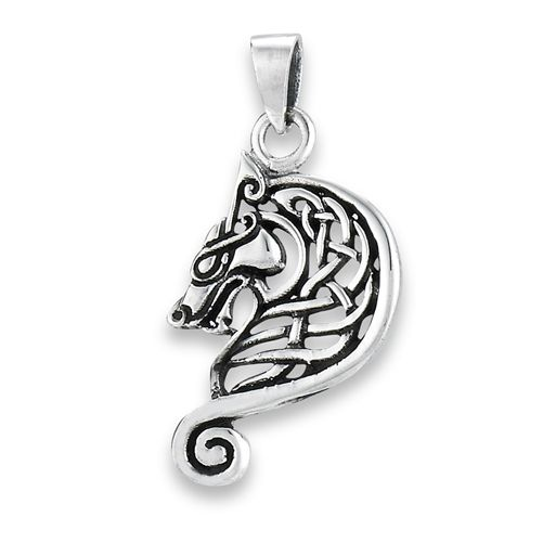 Intricate Celtic Knot Dragon Pendant Design cast in 925 Sterling Silver - product images